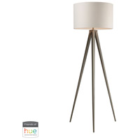 Dimond Lighting D2121-HUE-D Salford 61 inch 60 watt Satin Nickel Floor Lamp Portable Light