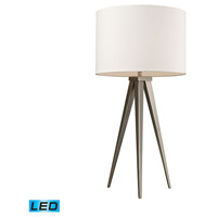 Salford 28 inch 13.5 watt Satin Nickel Table Lamp Portable Light in LED