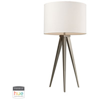 Salford 28 inch 60 watt Satin Nickel Table Lamp Portable Light