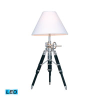 Dimond Lighting Studio 1 Light Table Lamp in Chrome And Black D2124-LED