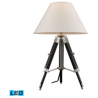 Studio 24 inch 13.5 watt Chrome And Black Table Lamp Portable Light in LED
