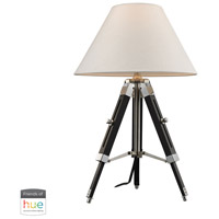 Studio 17 inch 60 watt Black with Chrome Table Lamp Portable Light