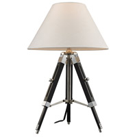 Studio 18 inch 100 watt Chrome and Black Table Lamp Portable Light in Incandescent