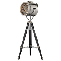 Curzon 45 inch 100 watt Chrome and Black floor Lamp Portable Light in Incandescent