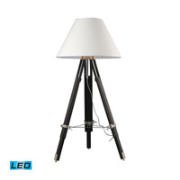 Studio 67 inch 13.5 watt Chrome And Black Floor Lamp Portable Light in LED