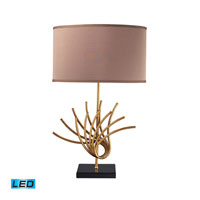 Dimond Lighting Sandhill 1 Light Table Lamp in Gold Leaf D2136-LED