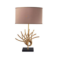 Sandhill 27 inch 150 watt Gold Leaf Table Lamp Portable Light