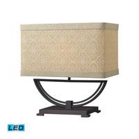 Dimond Lighting Sailsbury 1 Light Table Lamp in Dark Bronze D2139-LED