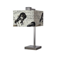 Dimond Meade 1 Light Table Lamp in Black Nickel D2160
