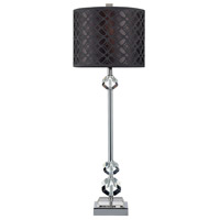 Dimond Chamberlain 1 Light Table Lamp in Chrome and Clear Crystal D2161