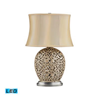 Serene 25 inch 13.5 watt Pearlescent Cream Table Lamp Portable Light in LED