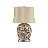 Dimond Serene 1 Light Table Lamp in Pearlescent Cream D2168