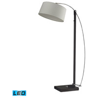 Dimond Lighting Logan Square 1 Light Floor Lamp in Dark Brown D2183-LED