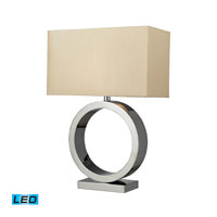 Dimond Lighting Aurora 1 Light Table Lamp in Chrome D2201-LED