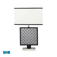 Dimond Lighting Portage 1 Light Table Lamp in Black / Polished Nickle D2210-LED