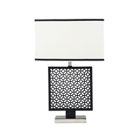 Dimond Portage 1 Light Table Lamp in Black / Polished Nickel D2210