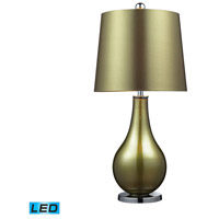 Dayton 33 inch 13.5 watt Sigma Green . Polished Nickle Table Lamp Portable Light in LED