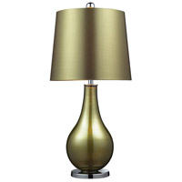 Dayton 33 inch 150 watt Sigma Green and Polished Nickel Table Lamp Portable Light in Incandescent