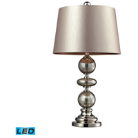 Hollis 29 inch 13.5 watt Antique Mercury Glass And Polished Nickle Table Lamp Portable Light in LED