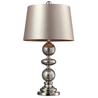 Hollis 29 inch 150 watt Antique Mercury Glass and Polished Nickel Table Lamp Portable Light in Incandescent