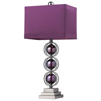 Alva 27 inch 60 watt Purple / Black Nickel Table Lamp Portable Light in Incandescent
