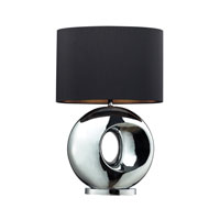 Dimond Tobermore 1 Light Table Lamp in Chrome D2236