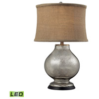 Antler Hill 25 inch 13.5 watt Antique Mercury Glass Table Lamp Portable Light in LED