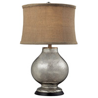 Dimond Antler Hill 1 Light Table Lamp in Antique Mercury Glass D2239