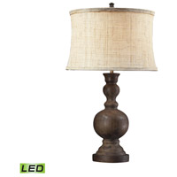 Arden 29 inch 13.5 watt Dark Oak Table Lamp Portable Light in LED