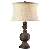 Arden 29 inch 100 watt Dark Oak Table Lamp Portable Light in Incandescent