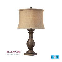 Dimond Lighting Biltmore For Your Home  Pisgah 1 Light Table Lamp in Dark Oak D2241-LED