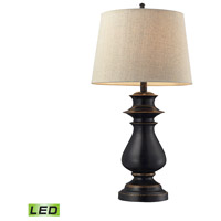 Cedric 29 inch 13.5 watt Dark Bronze Table Lamp Portable Light in LED