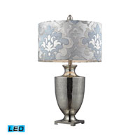 Langham 31 inch 13.5 watt Antique Mercury Glass With Polished Chrome Table Lamp Portable Light in LED