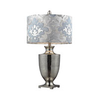 Langham 31 inch 150 watt Antique Mercury Glass With Polished Chrome Table Lamp Portable Light in Incandescent