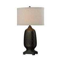 Dimond Lighting Oval 1 Light Table Lamp in Aria Bronze Composite D225