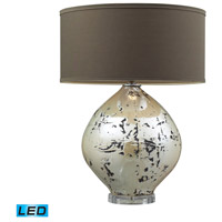 Limerick 25 inch 9.5 watt Turrit Gloss Beige Table Lamp Portable Light in LED