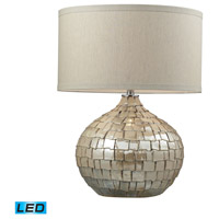 Canaan 25 inch 13.5 watt Cream Pearl Table Lamp Portable Light in LED