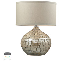 Dimond Lighting D2264-HUE-D Canaan 25 inch 60 watt Cream Pearl Table Lamp Portable Light