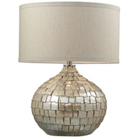 Canaan 25 inch 150 watt Cream Pearl Table Lamp Portable Light in Incandescent