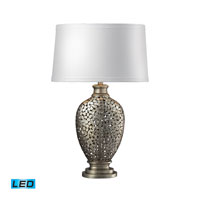 Dimond Lighting Lockerbie 1 Light Table Lamp in Silver With Antique D2275-LED