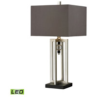 Dimond Lighting D228-LED Crystal Accent 30 inch 9.5 watt Silver Leaf and Black Table Lamp Portable Light in LED