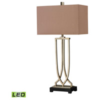 Dimond Lighting D229-LED Free Form Iron 33 inch 9.5 watt Antique Silver Leaf Table Lamp Portable Light in LED