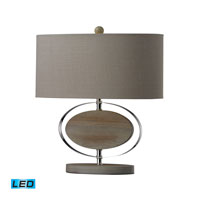 Dimond Lighting Hereford 1 Light Table Lamp in Bleached Wood With Chrom Finish D2296-LED