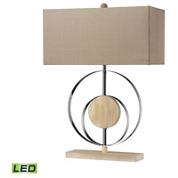 Dimond Lighting D2297-LED Shiprock 23 inch 13.5 watt Bleached Wood With Chrom Finish Table Lamp Portable Light in LED