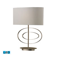 Dimond Lighting Carson 1 Light Table Lamp in Antique Silver Leaf D2302-LED