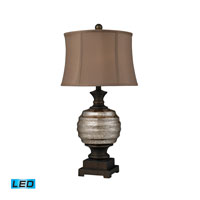 Grants Pass 29 inch 13.5 watt Antique Mercury Glass And Bronze Accents Table Lamp Portable Light in LED