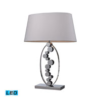 Dimond Lighting Sidney 1 Light Table Lamp in Chrome D2323-LED