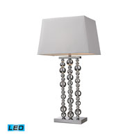 Dimond Lighting Belen 1 Light Table Lamp in Chrome D2325-LED
