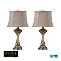 Dimond Lighting Trump Home Montgomery 2 Light Table Lamp in Antique Bronze D2335/s2-LED