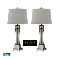 Onassis 30 inch 13.5 watt Brushed Nickel Table Lamp Portable Light in LED, Trump Home